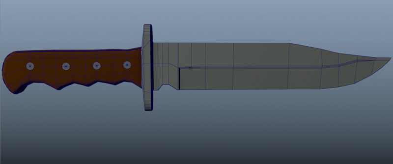 Bowie Knife showing Typology