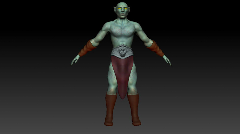 3D character model of an Orc